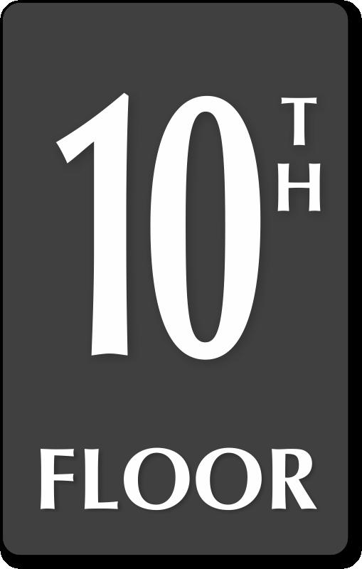 10th floor number engraved sign quick delivery sku se 5844