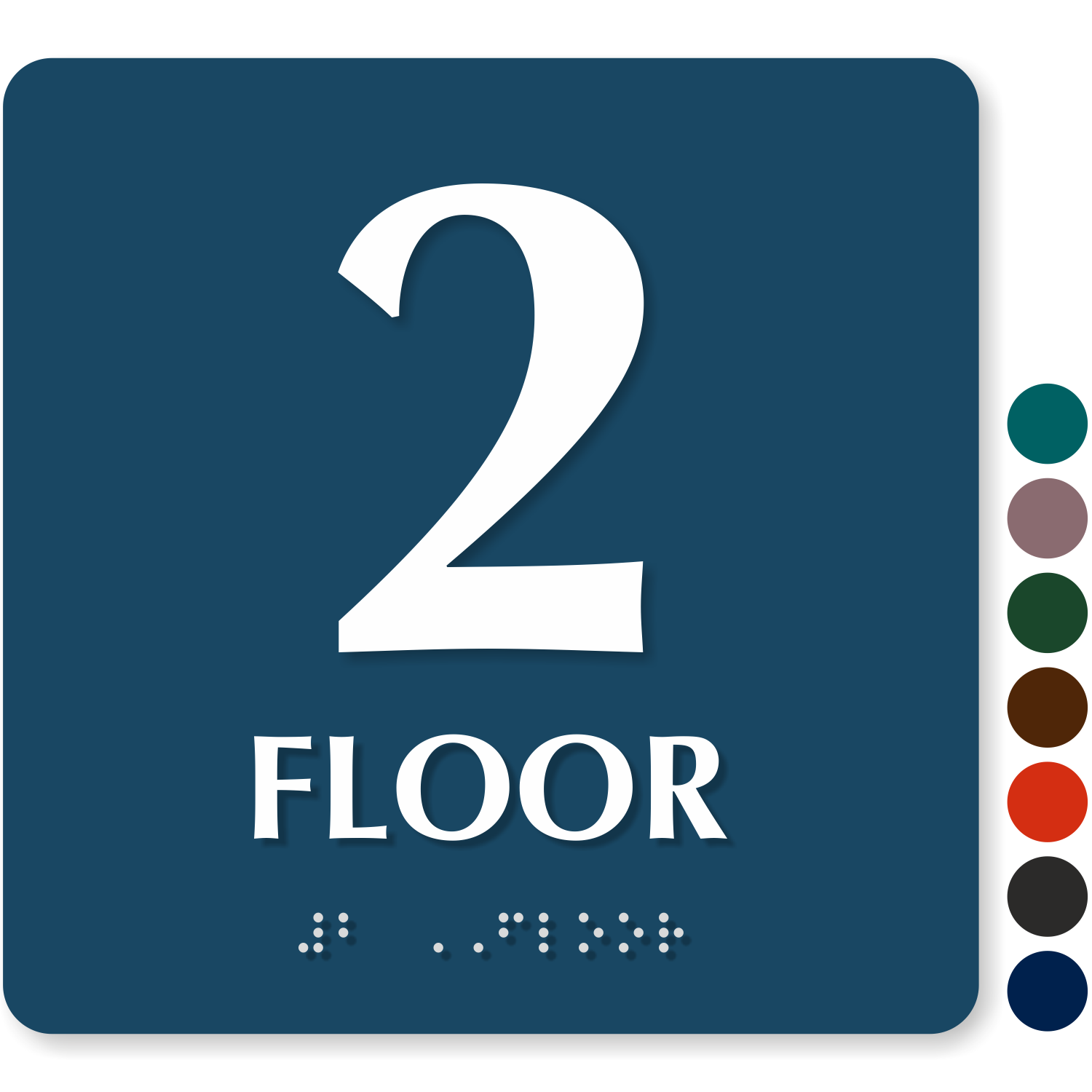Floor number signs roof access re entry floor number for Floor banner