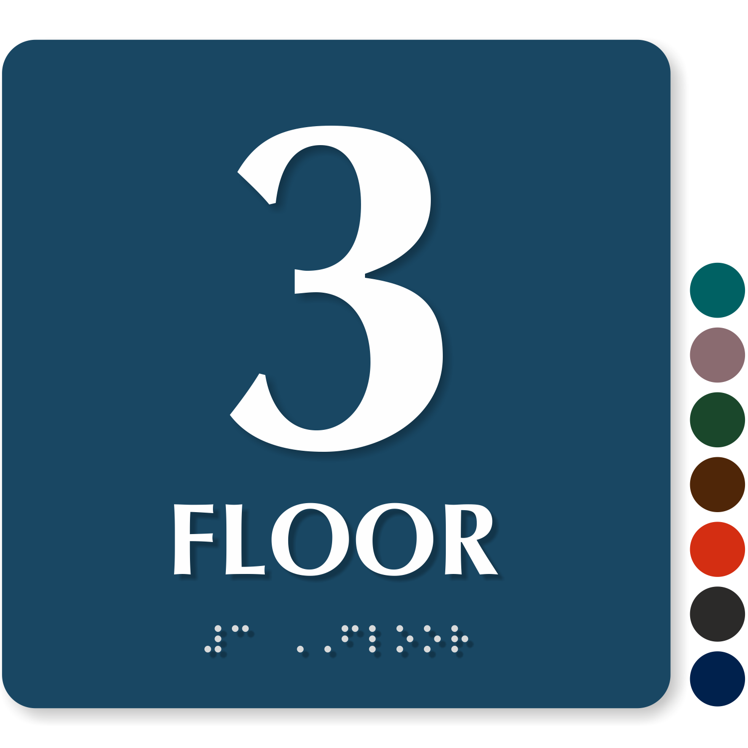 Floor number signs roof access re entry floor number for Floor number sign