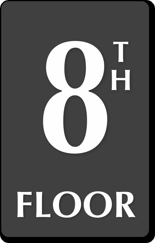 8th Floor Number Engraved Sign Free Delivery Sku Se 5842