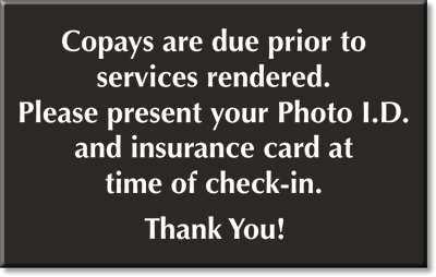 "how to collect copayments deductibles and past due balances O ""both your payment (or co-pay) for this visit and your prior balance of $75 will  be due at the  have a co-pay of 30% after deductible i calculated  o ""mr perez , the charge for today was $10 due to your copay responsibility."