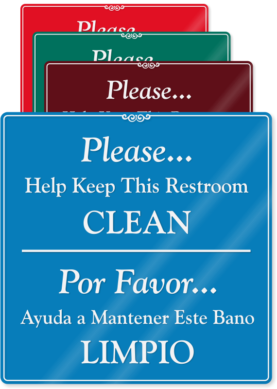 Signs Keep Bathroom Clean Signs Funny Sign Gallery Funny Restroom