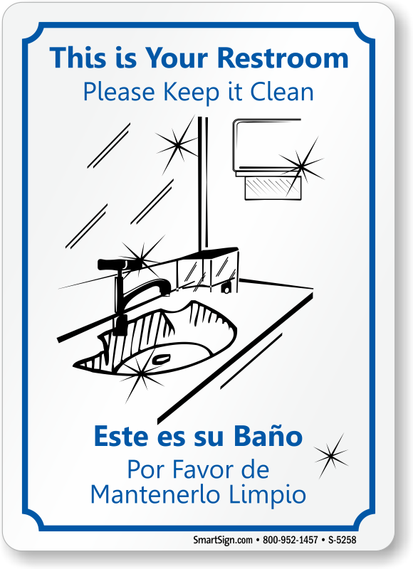 Keep Bathroom Clean Sign Printable For Pinterest