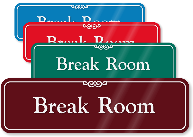 Bathroom door signs for home - Home Room Signs Lunch Room Signs Break Room Signs Se 2420