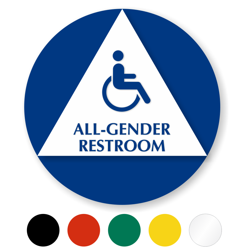 California All-Gender Restroom Sign with Handicap Symbol ...