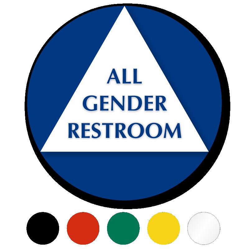 Circular California All-Gender Sintra Restroom Door Sign ...