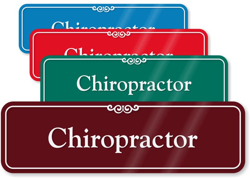 chiropractor medical office showcase sign health clinic