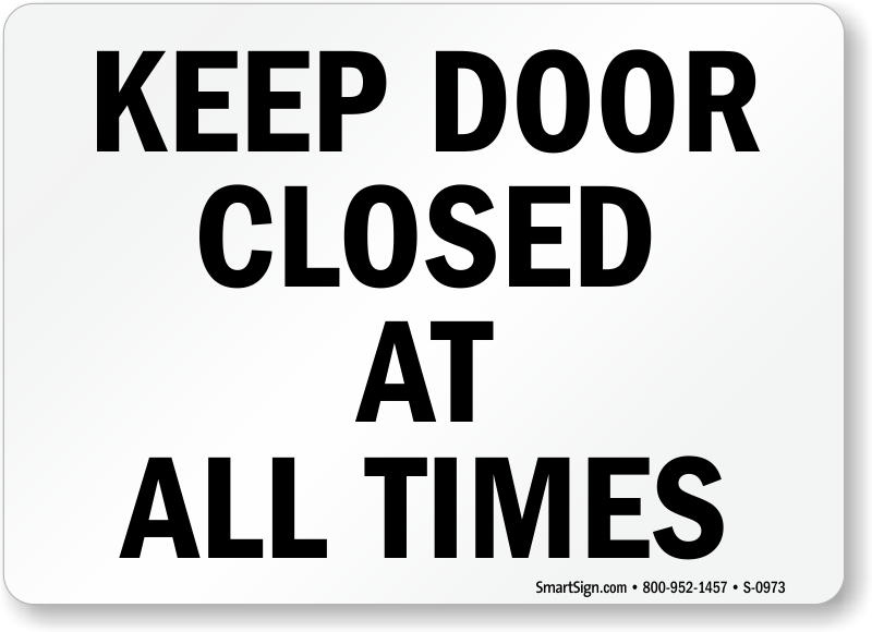 the gallery for gt please close the door sign printable