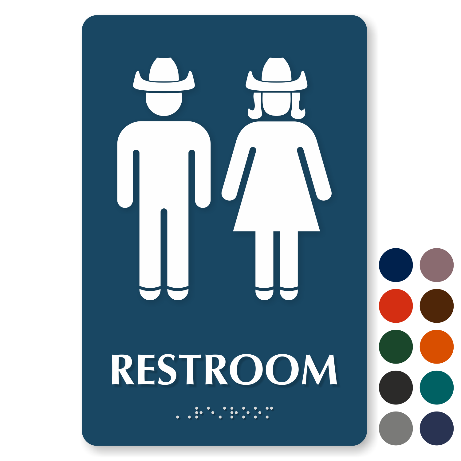 Bathroom signs