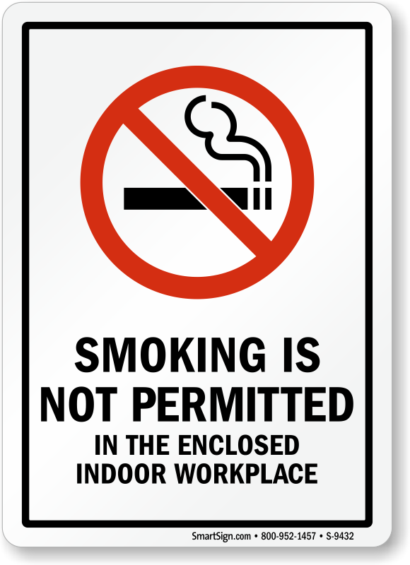 Smoking policy in the workplace