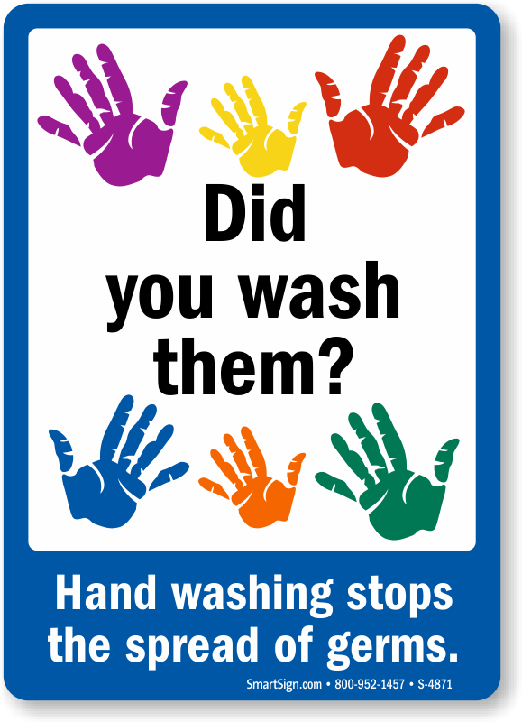 Current image in free printable hand washing signs