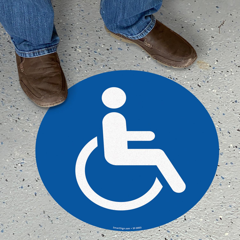 Handicapped Door Signs Automatic Door Sign And Tactile