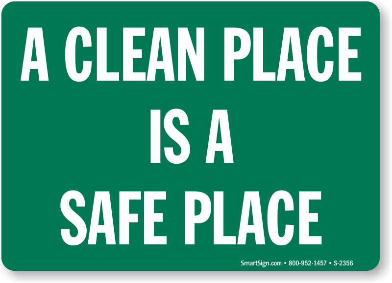 Keep clean signs - Clean up after yourself bathroom signs ...