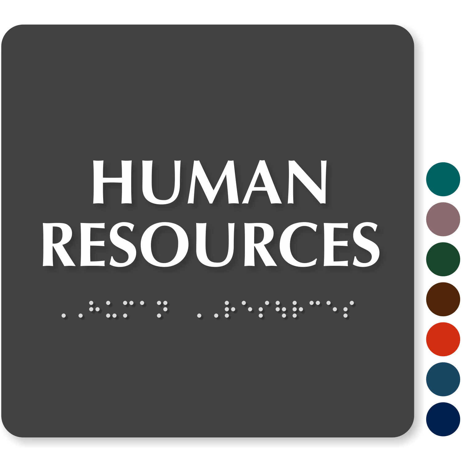 Human Resources: Go/Stop Human Resource HR Slider Signs