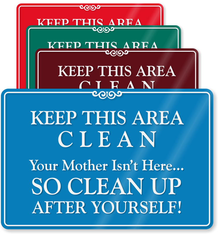 Please Keep Kitchen Clean