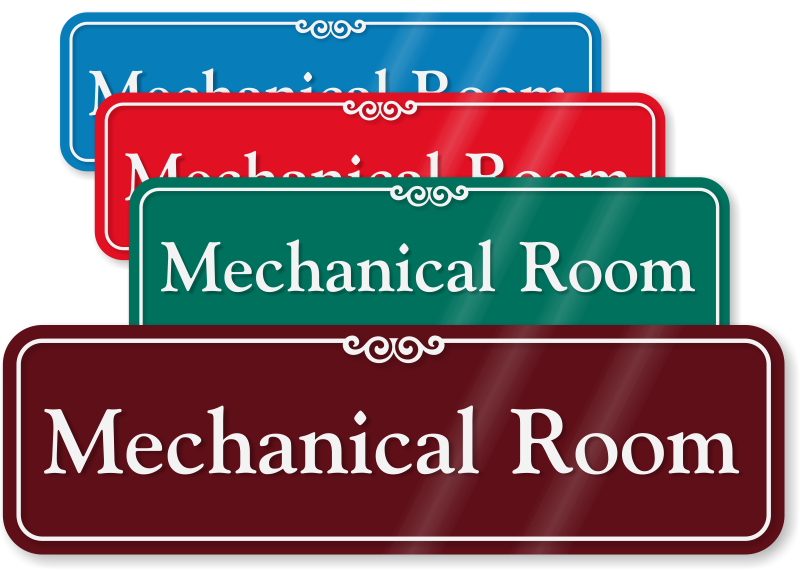 Mechanical Room Signs Braille Signs