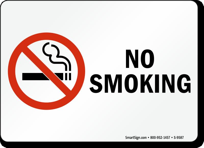 No Smoking Labels No Smoking Sku S 9587