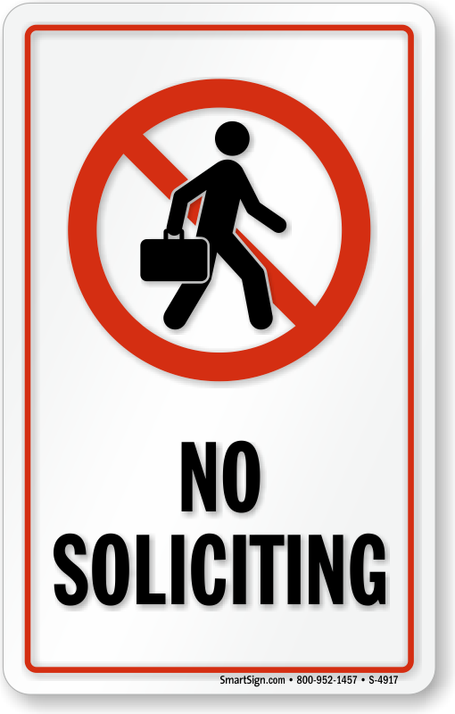 No Soliciting Window Decals No Soliciting Signs Sku S 4917