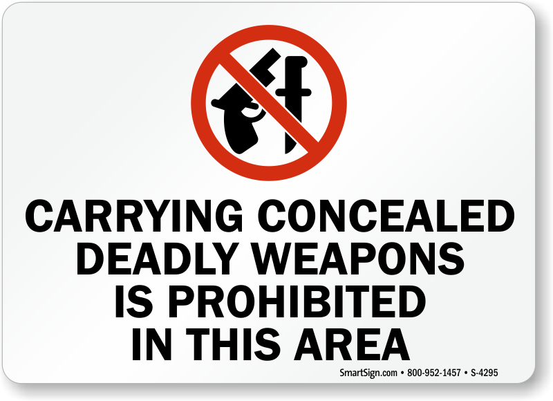 carrying concealed weapons to school There are also no rules under federal law for concealed carry firearms  gun  free school zones act (1990) - prohibits possession of firearm in school zone.