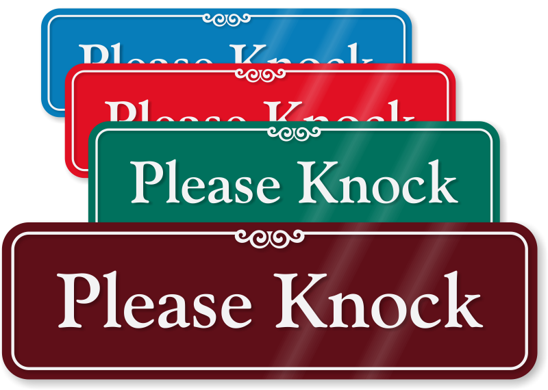 Please+Knock+Sign Please Knock ShowCase™ Wall Sign & Do Not Disturb ...