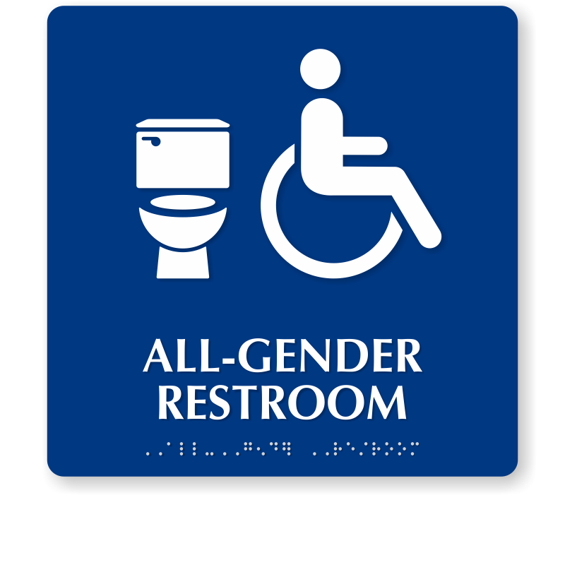 Round California All Gender Restroom Sign Toilet Isa Symbol Sku Se 6069