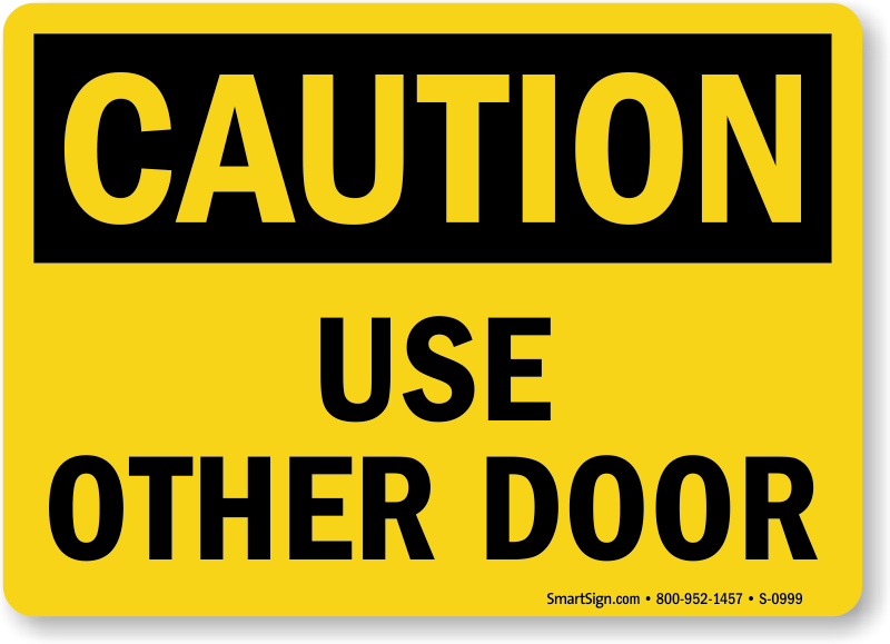 Use this door sign radiotodorock maxwellsz