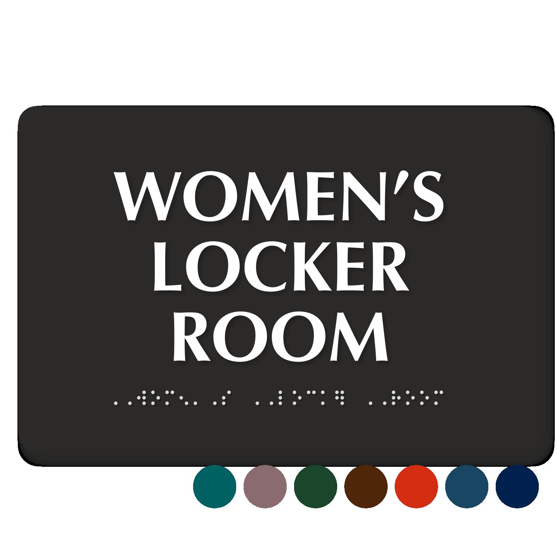 Locker room signs men and women