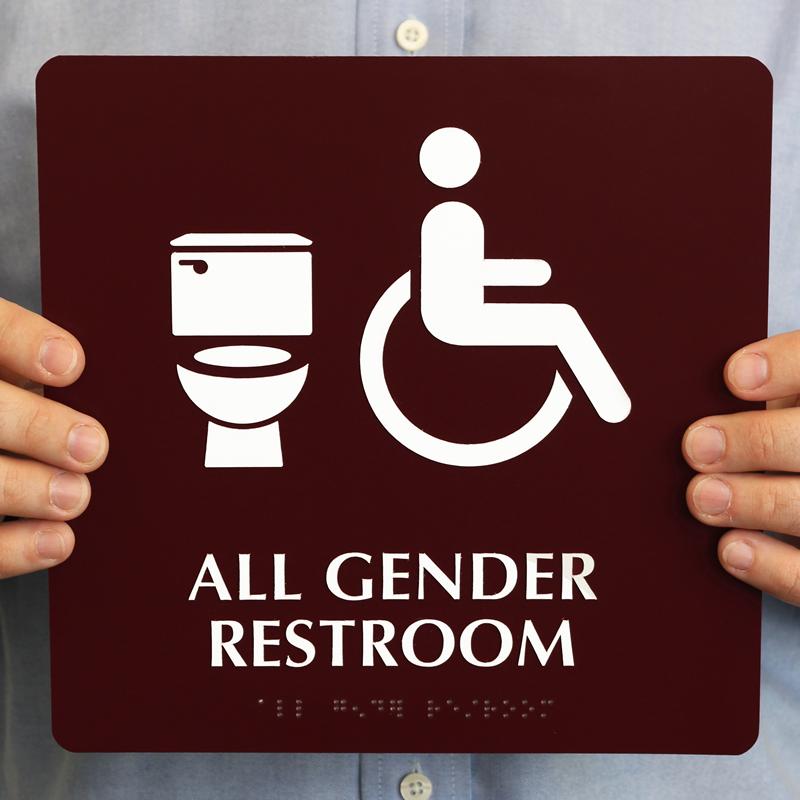 All Gender Isa Restroom Braille Toilet Symbol Sign Sku