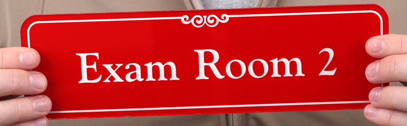 Exam Room 2 Showcase™ Wall Sign, Sku  Se2446. Kpop Signs. Cat In Hat Signs. Abcd Signs Of Stroke. Front Yard Signs. H1n1 Signs. Wedding Dress Signs Of Stroke. Ground Signs. Algebra Signs