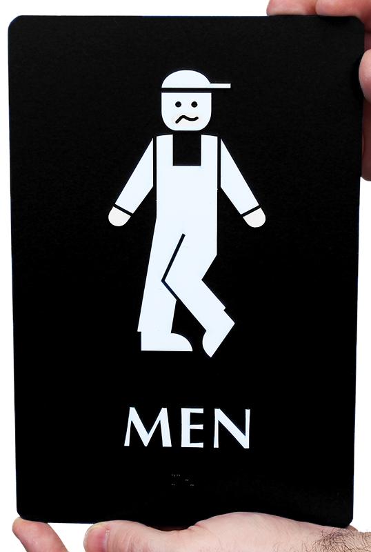 Bow Legged Men 39 S Funny Bathroom Sign Free PDF SKU SE 2023