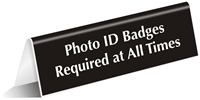 Photo ID Badges Required Sign