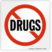 No Drugs Graphic Sign