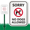 Lawnboss™ No Dogs Sign