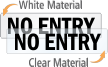 No Entry Door Label