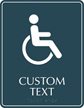 Custom Braille Regulatory Sign