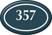 Custom Oval Shaped Room Number Sign with Border