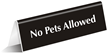 No Pets Allowed Sign