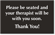 Therapist Engraved Room Sign