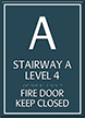 Stairway, Fire Door Keep Closed Sign