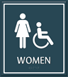 Women Regulatory Sign with Handicap Symbol