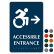 Accessible Entrance Right Braille Updated Symbol Sign