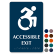 Accessible Exit TactileTouch Braille Sign