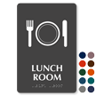 Lunch Room Symbol ADA TactileTouch™ Sign with Braille