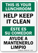This Is Your Lunchroom Sign Bilingual