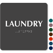 Laundry TactileTouch™ Sign with Braille