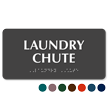 Laundry Chute ADA TactileTouch™ Sign with Braille