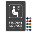 Student Lounge Symbol TactileTouch™ Sign with Braille