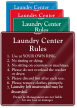 Custom Laundry Center Rules Designer Sign