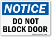 Notice Block Door Sign