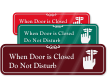 Do Not Disturb with Graphic ShowCase™ Wall Sign